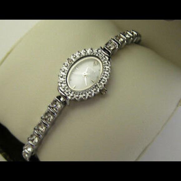 Vintage Elgin Tennis Bracelet Watch